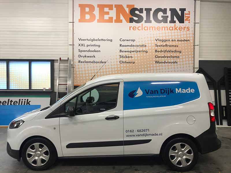 Bestelbus sticker door Bensign Reclamemakers